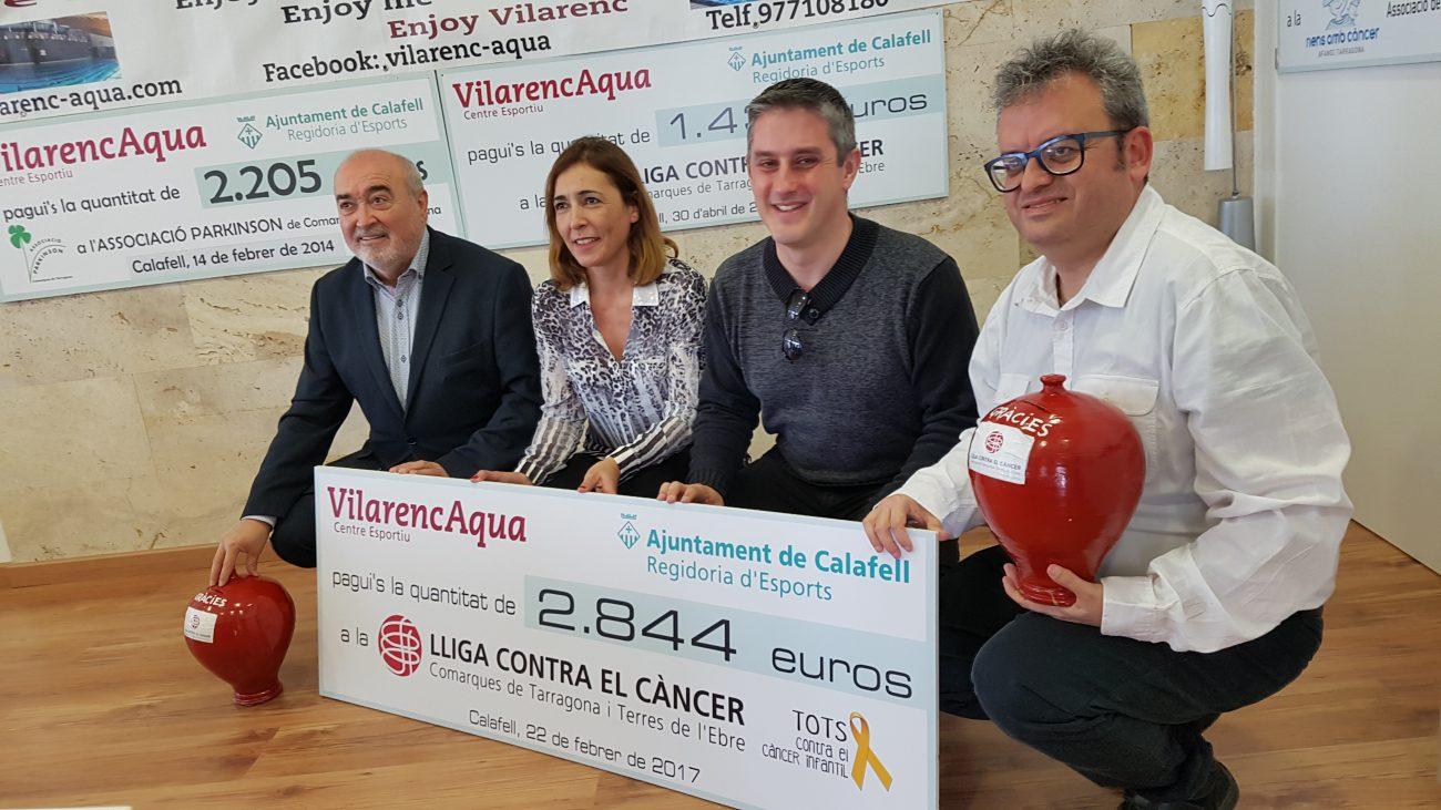 Vilarenc Aqua de Calafell recapta 2.844€ per la Lliga Contra el Càncer